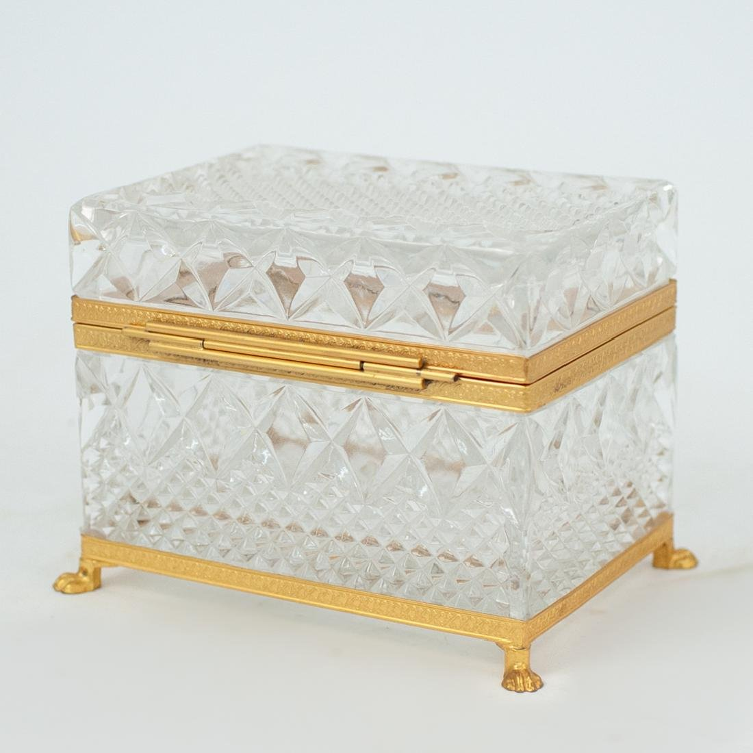 Antique Cut Crystal and Gilt Bronze Lidded Box - 4