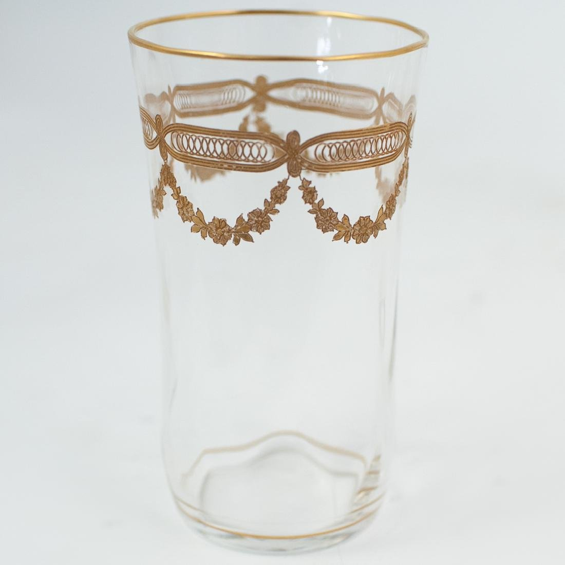 (89 Pc) Crystal and Gilt Decorated Glassware - 4