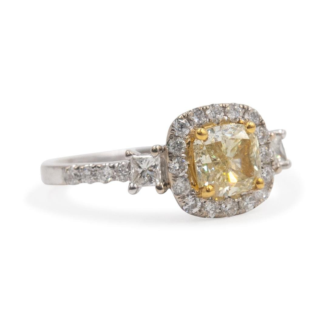 18k Gold and Yellow Diamond Ring