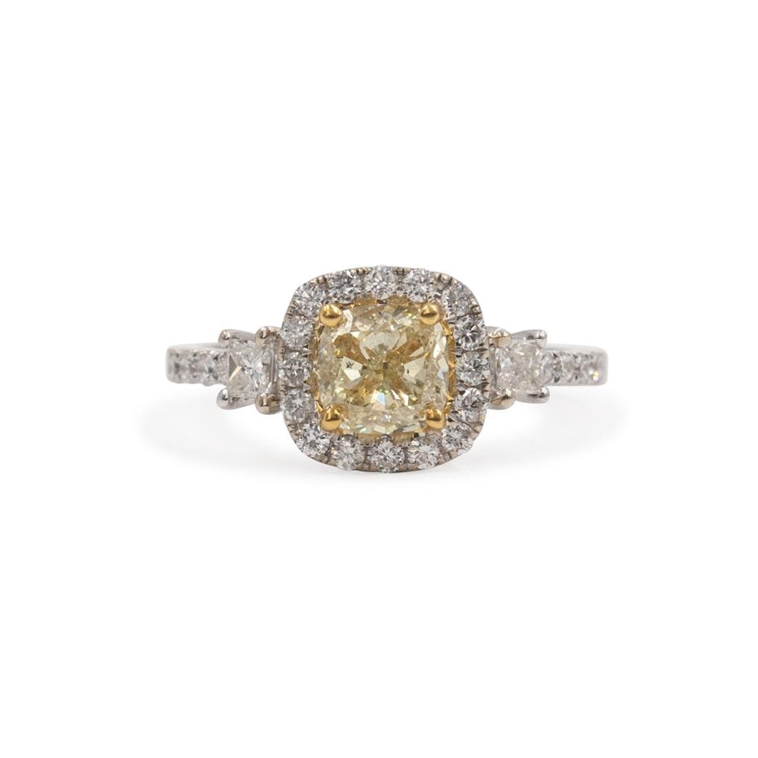 18k Gold and Yellow Diamond Ring - 2