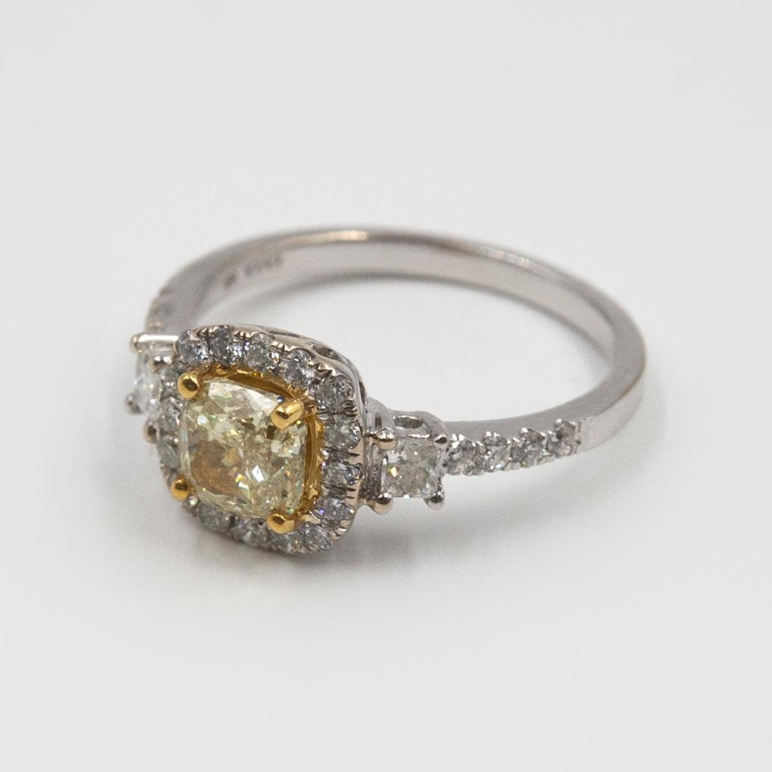 18k Gold and Yellow Diamond Ring - 3