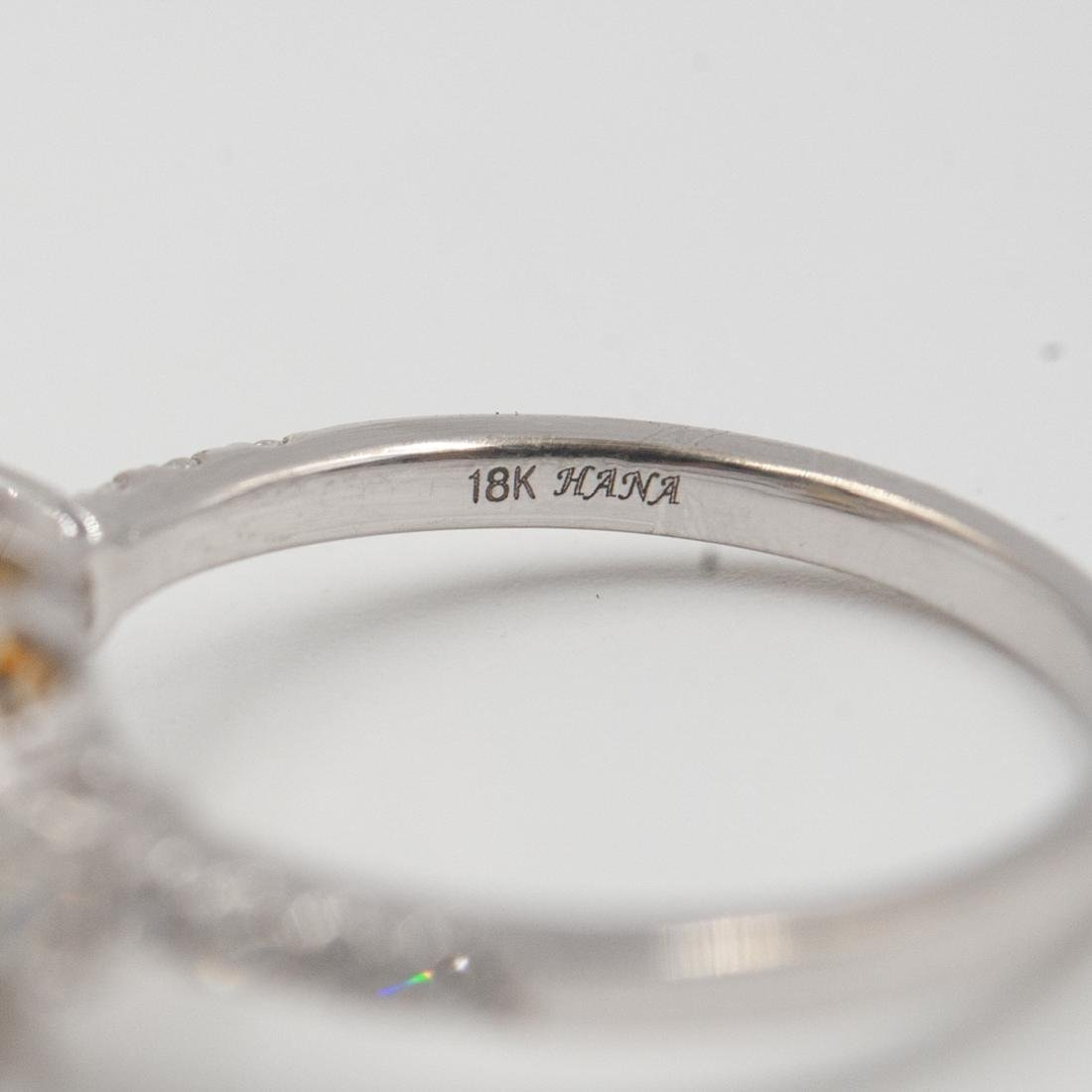 18k Gold and Yellow Diamond Ring - 5