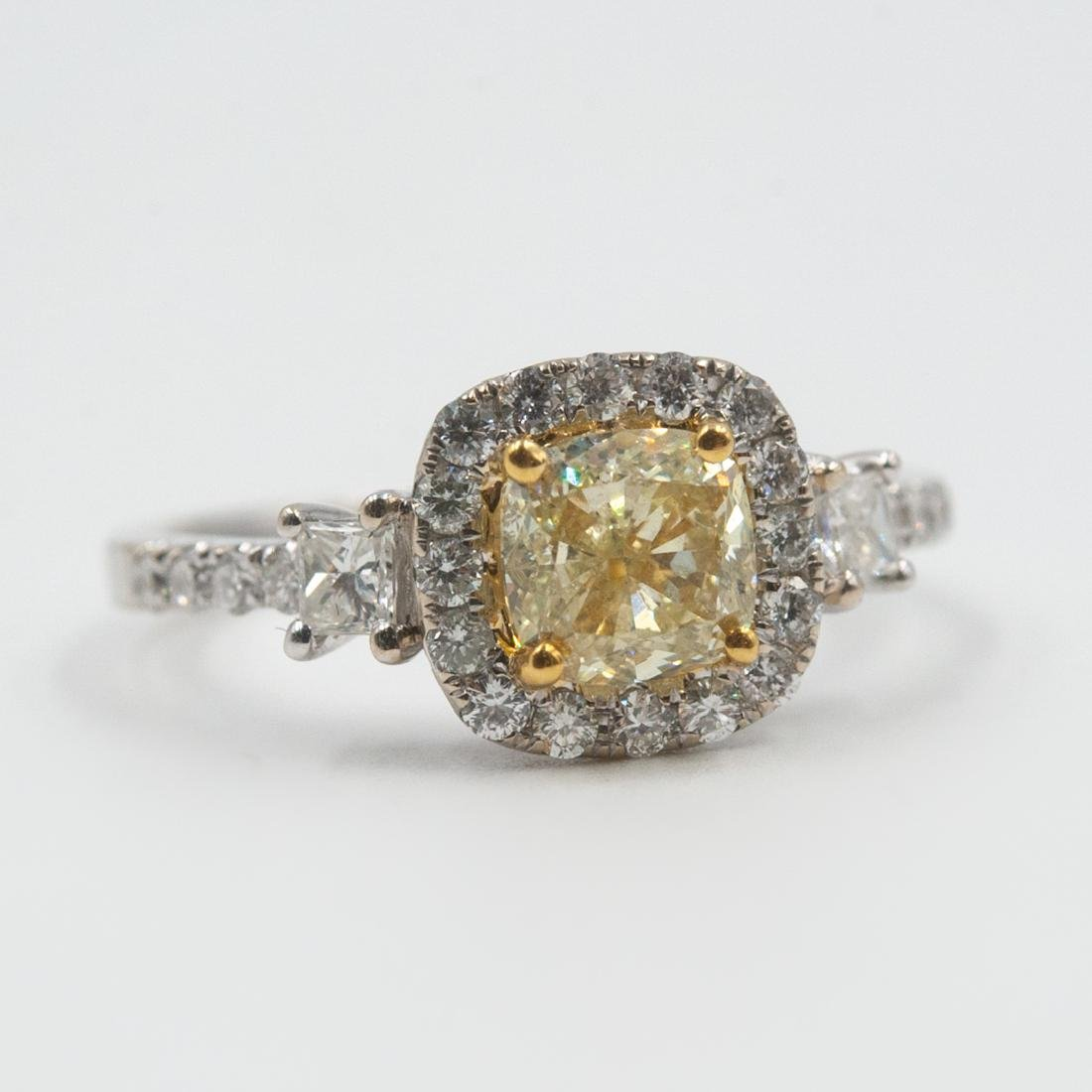 18k Gold and Yellow Diamond Ring - 6
