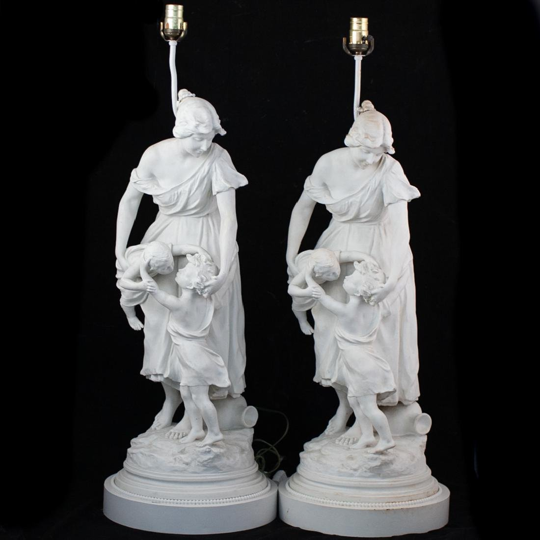 Pair of Luca Madrassi (French. 1848-1919) Porcelain