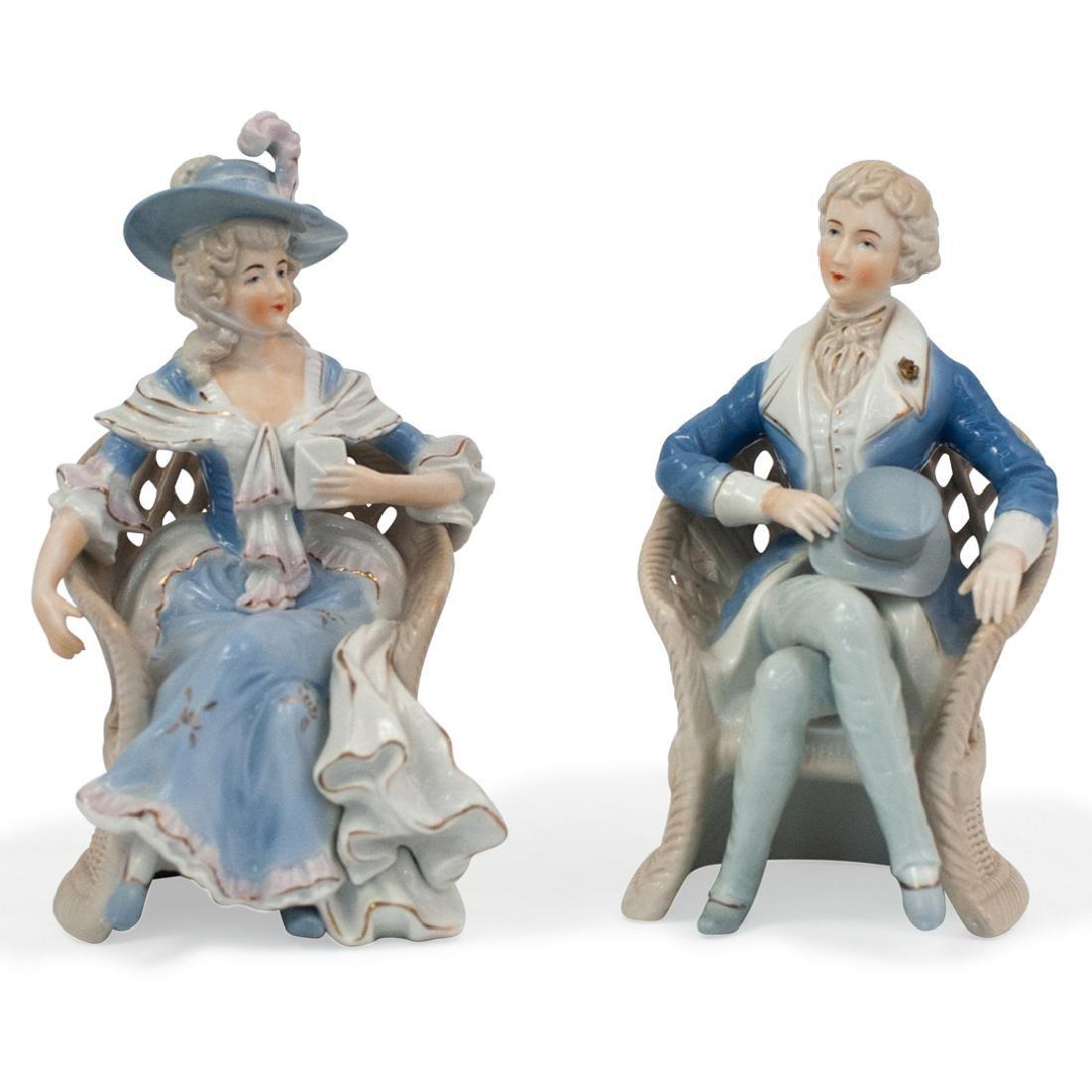 Pair of Lenwile Ardalt Porcelain Figurines