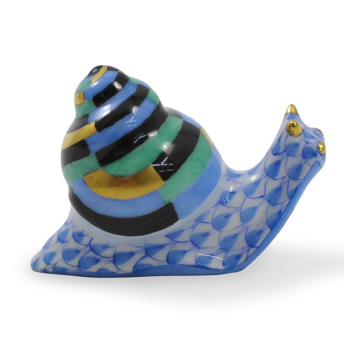 Miniature Herend Porcelain Snail