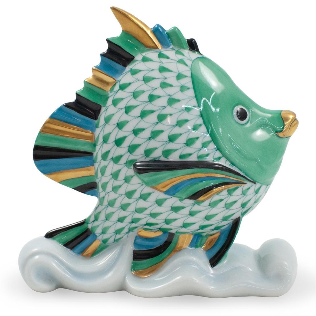 Herend Porcelain Fishnet Tropical Fish