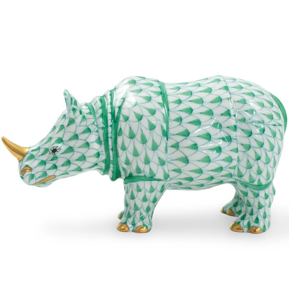 Herend Porcelain Fishnet Rhino