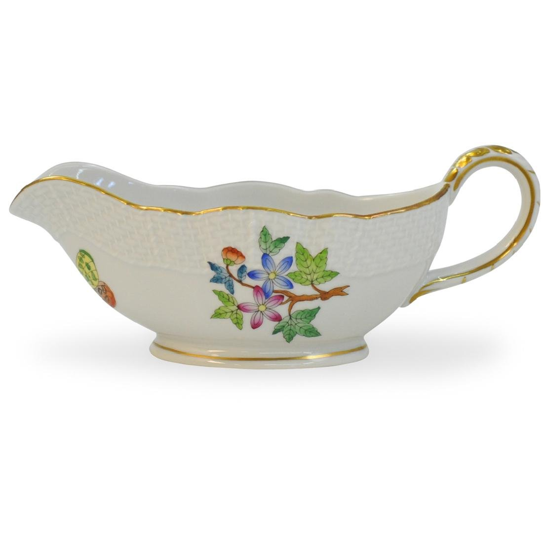 """Herend Porcelain """"Queen Victoria"""" Gravy Boat"""