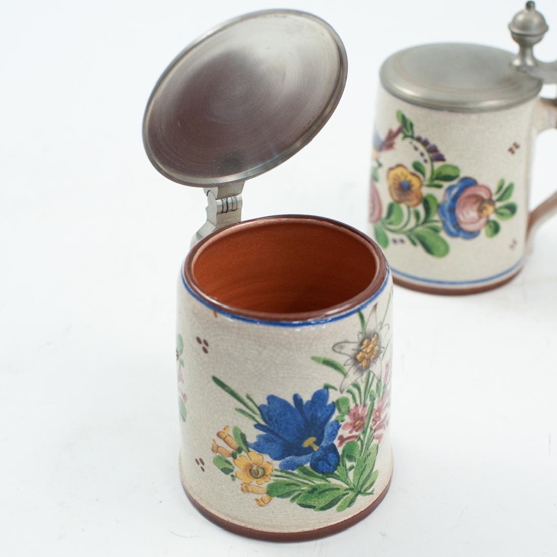 (2 Pc) German Ceramic Beer Steins - 3