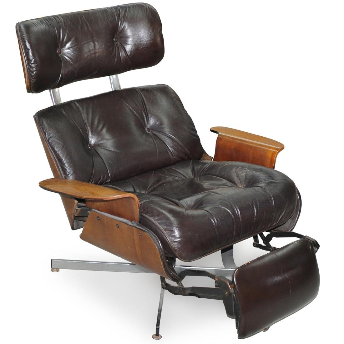 Eames Style Mid Century Recliner Chair