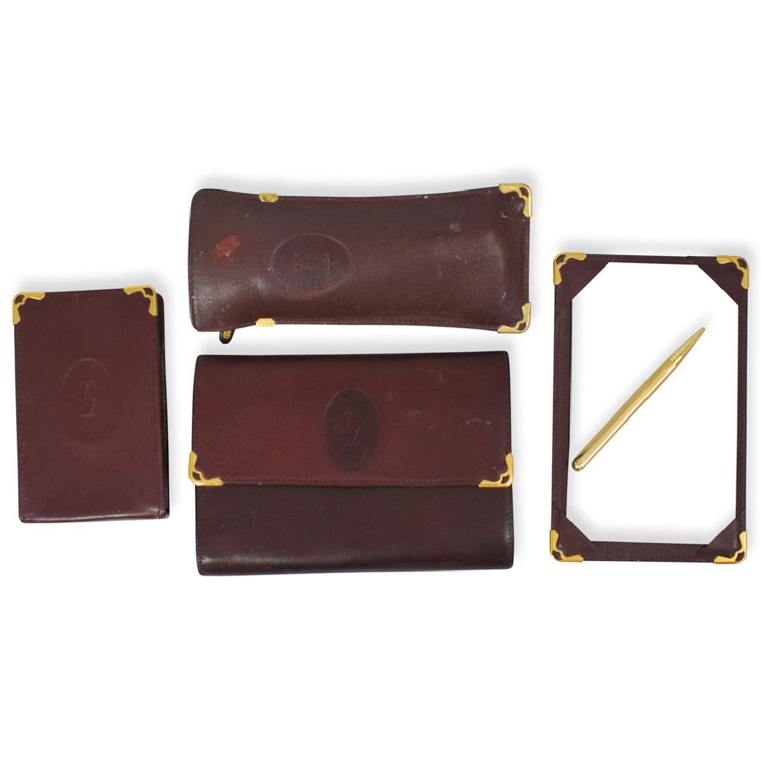 (4 Pc) Cartier Leather Cases