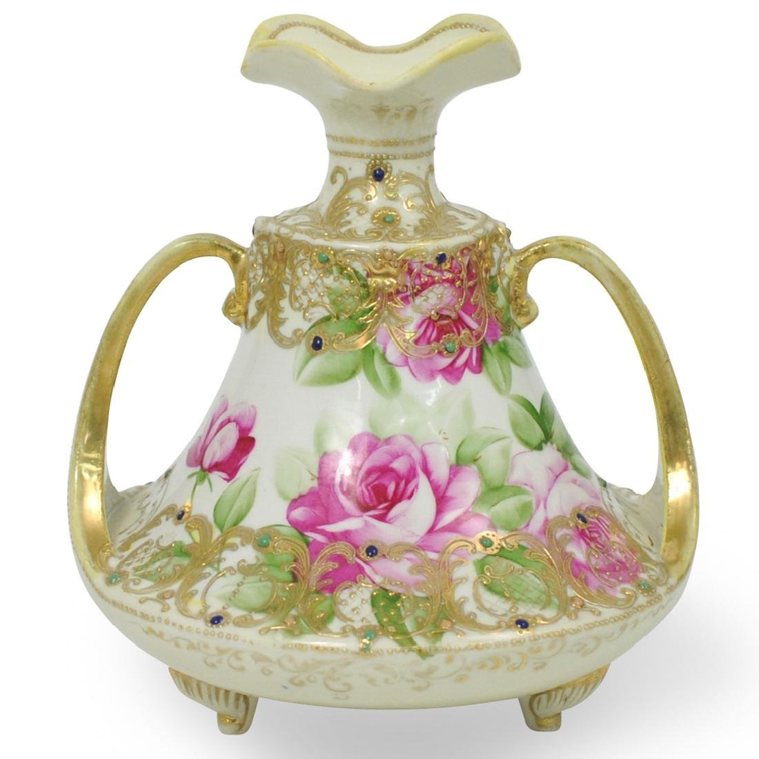 Nippon Hand Painted Porcelain Vase