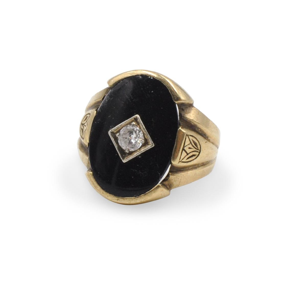 10K Gold and Diamond Ring