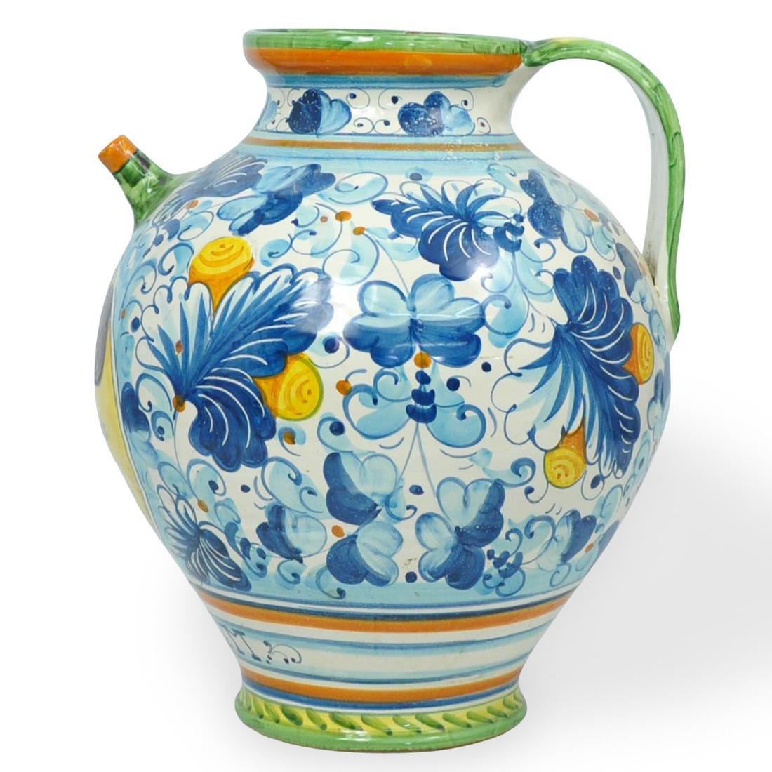 Italian Majolica Pottery Pitcher