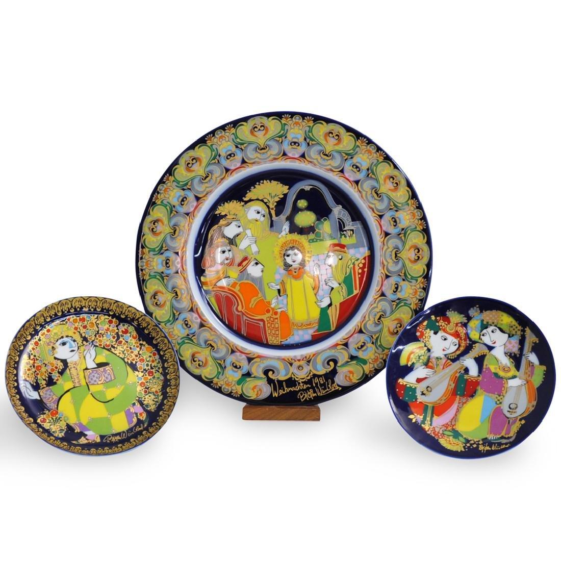 (3 Pc) Rosenthal Bjorn Wiinblad Collector Plates
