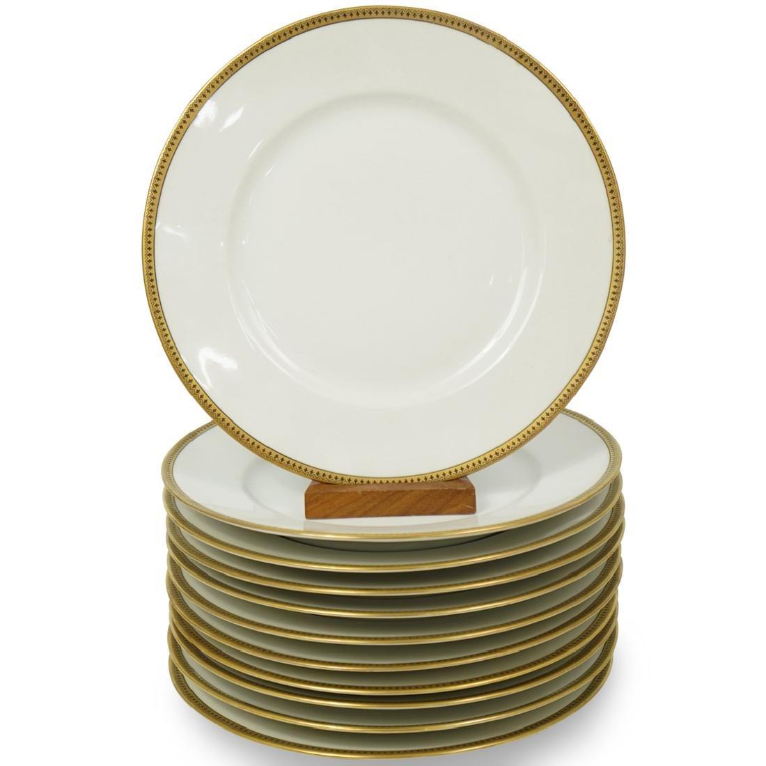 (11 Pc) L. Bernardaud and Co Limoges Porcelain Plates
