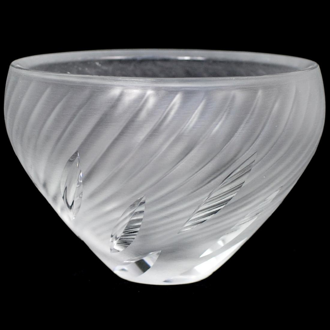 Lalique Frosted Crystal Bowl