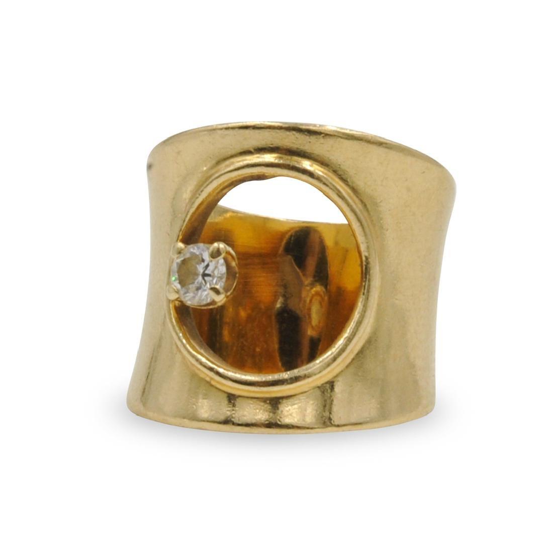 14k Gold and Diamond Ladies Ring