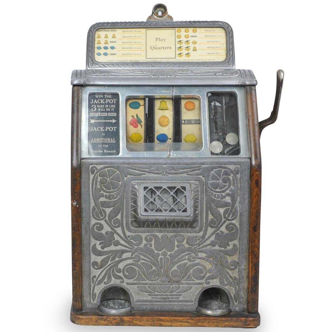 Antique Caille Brothers Bell Slot Machine