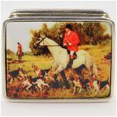Sterling Silver and Enamel Pill Box