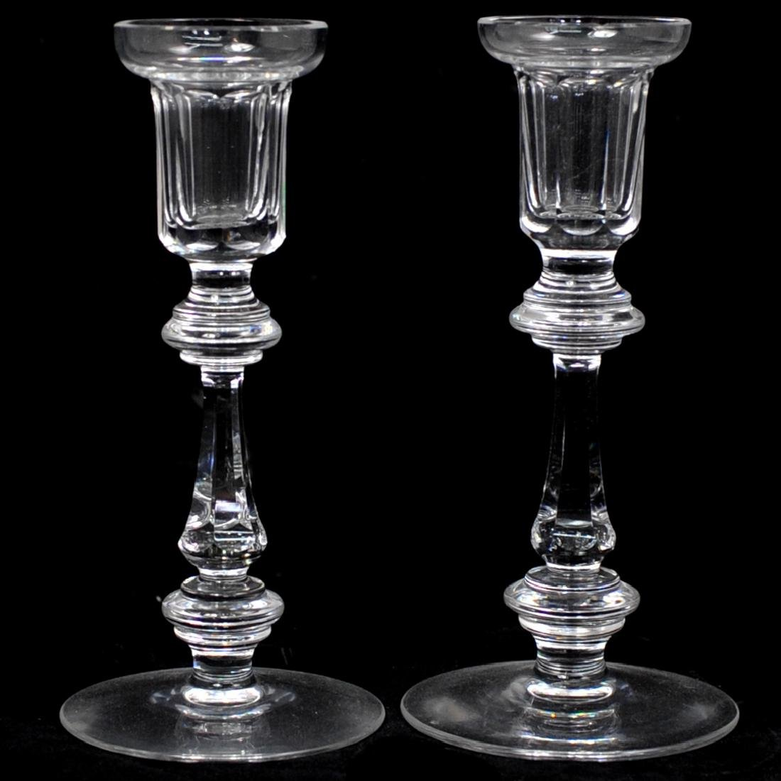 Pair of Waterford Crystal Candle Holders