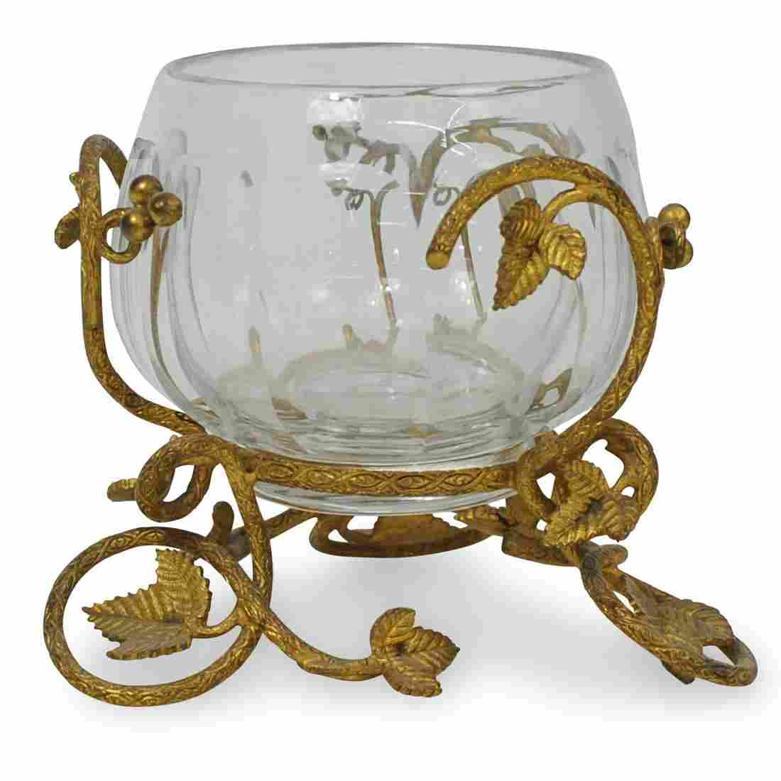 Crystal and Gilt Footed Bowl