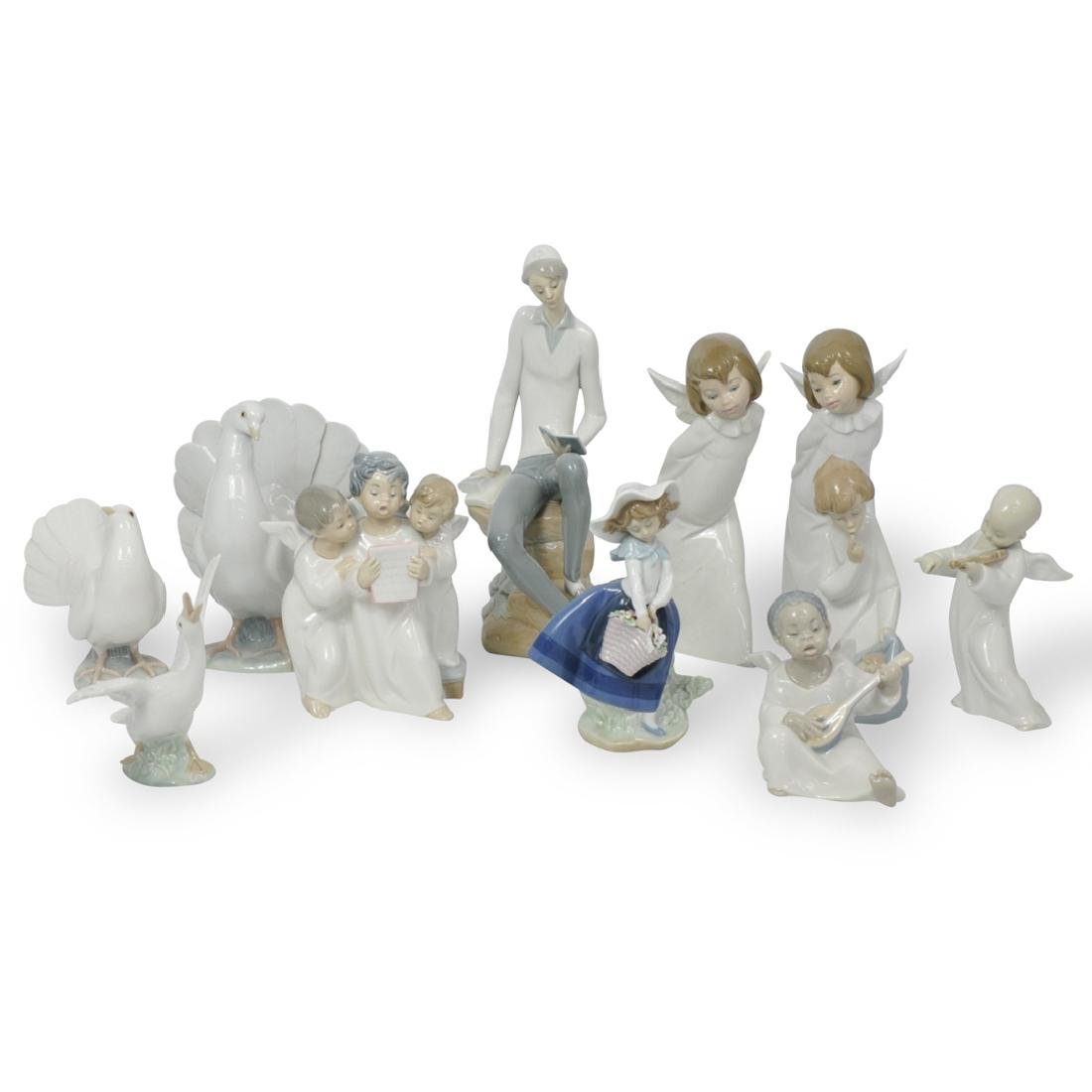 (11 Pc) Lladro Porcelain Figurines