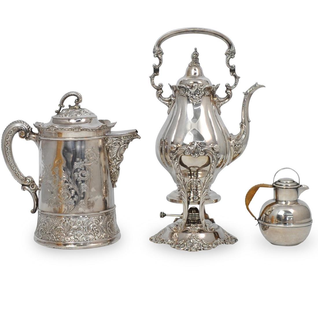 (3 Pc) Silver Plated Tea Service