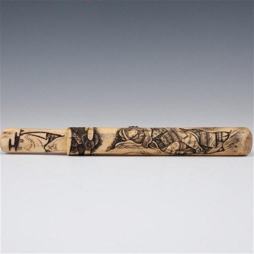 Japanese Carved Bone Letter Opener Jun 25 2019 Akiba Antiques In Fl