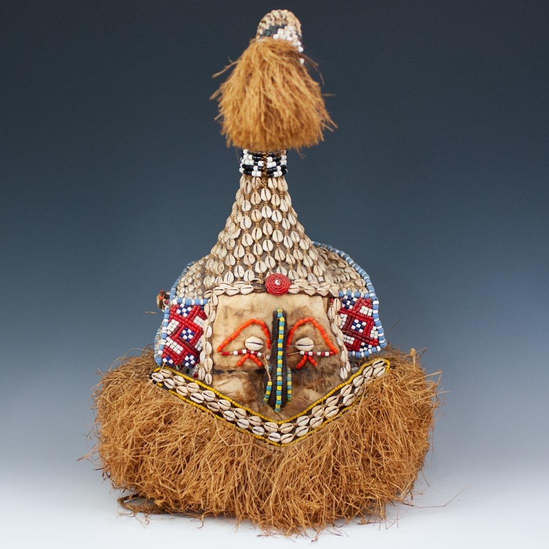 African Rafia Ceremonial Mask