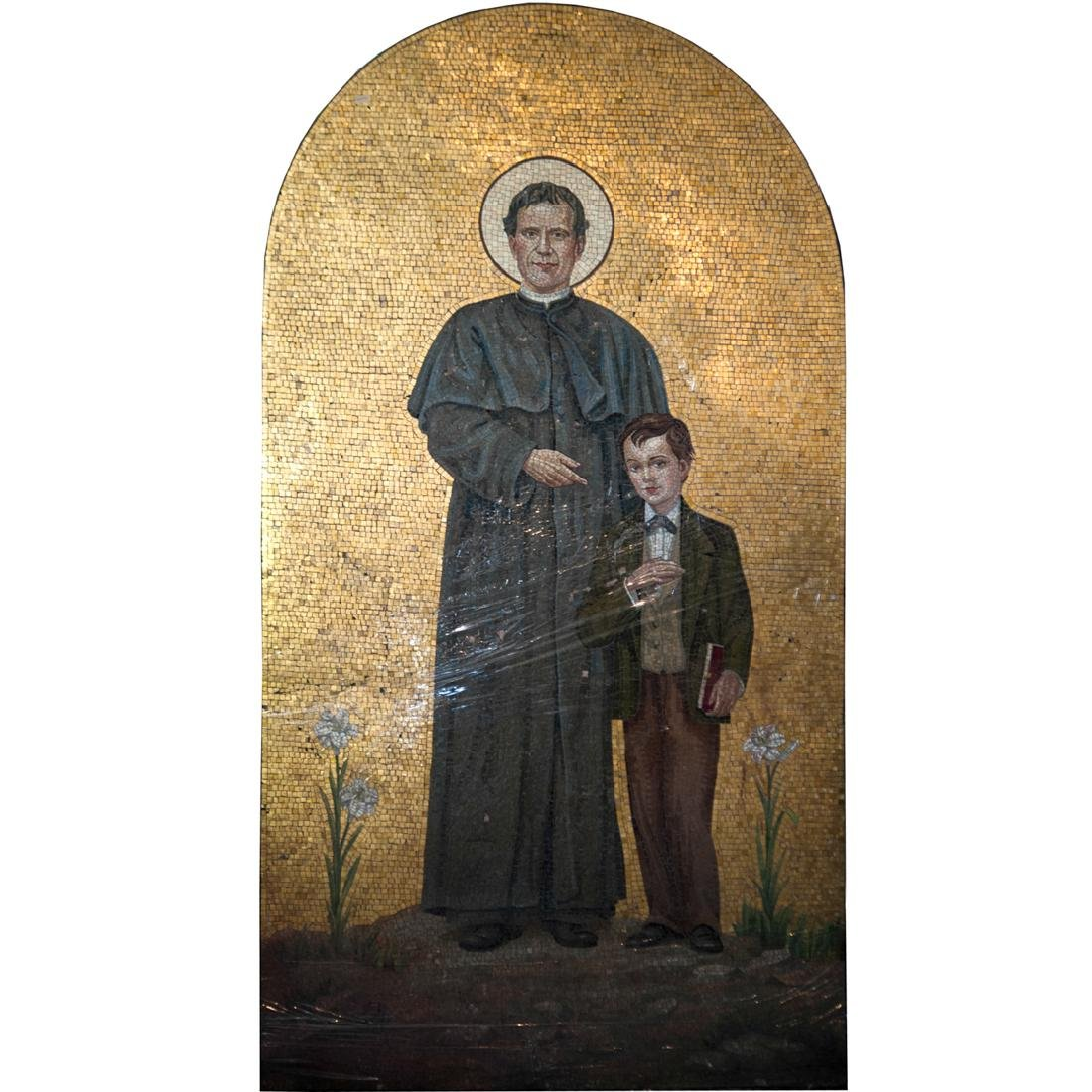 19th Ct. Continental Macro Mosaic of Saint John Bosco