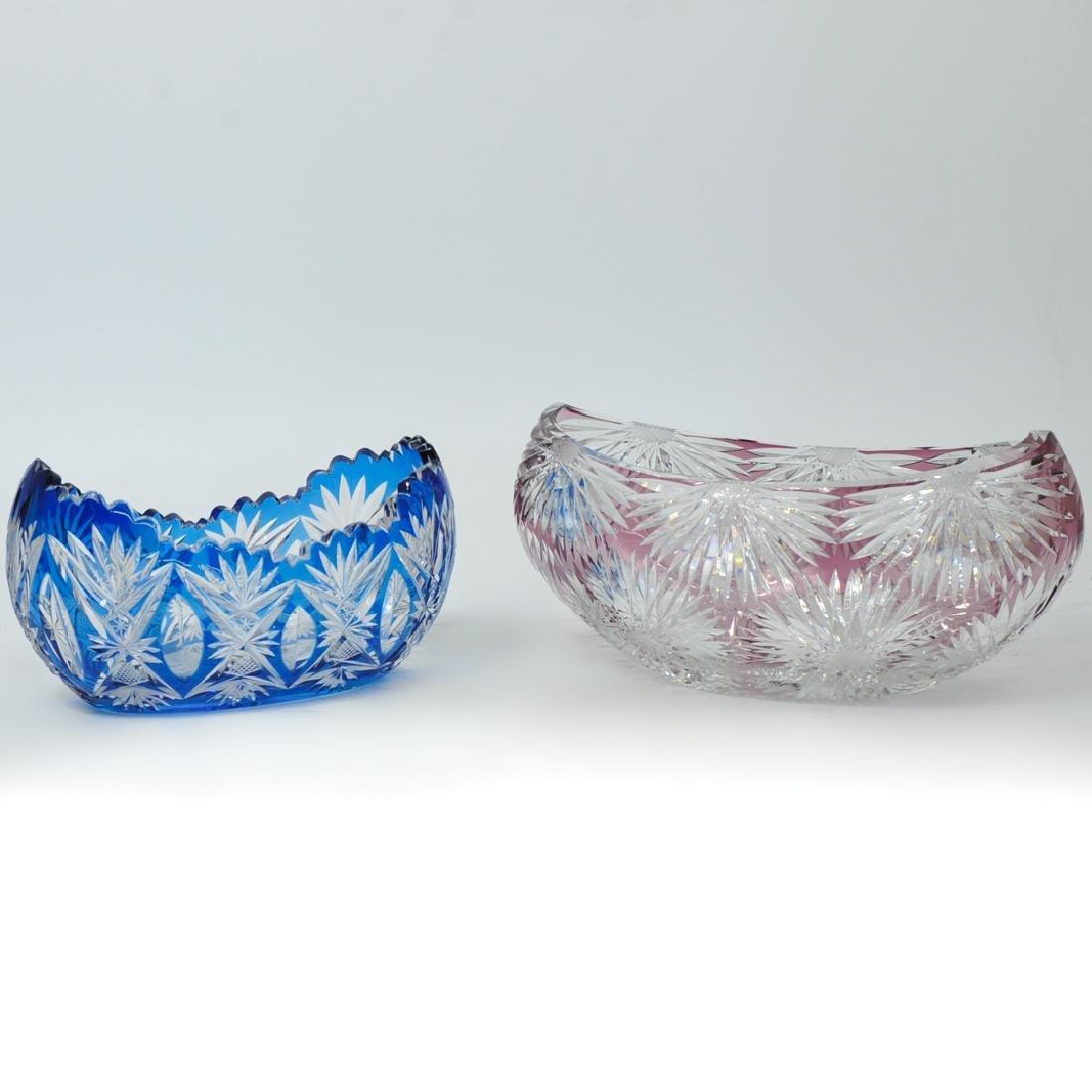(2 Pc) Val St Lambert Style Glass Bowls