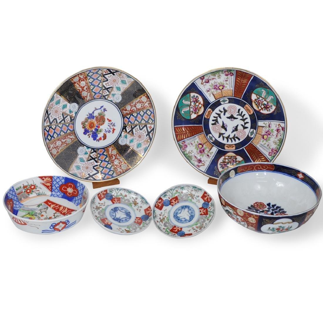 (6 Pc) Japanese Imari Bowls