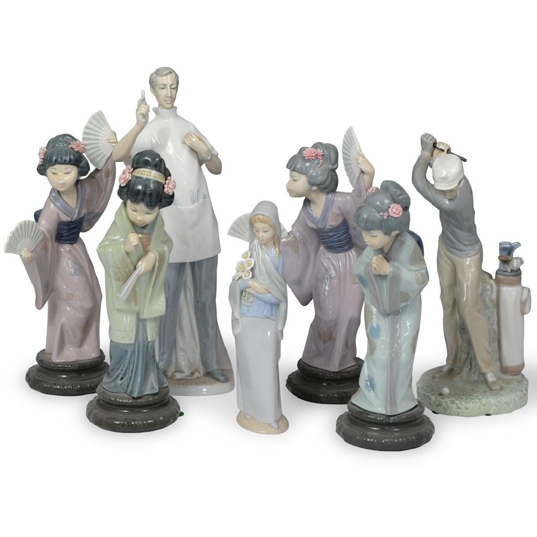 (7 Pc) Lladro Porcelain Figurines