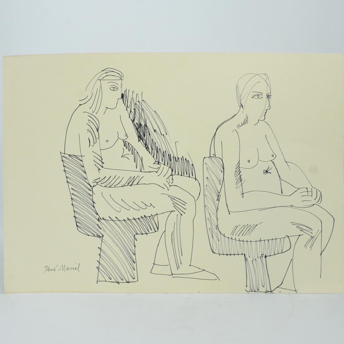 Rene Marcil (American, 1917-1993) Works on Paper