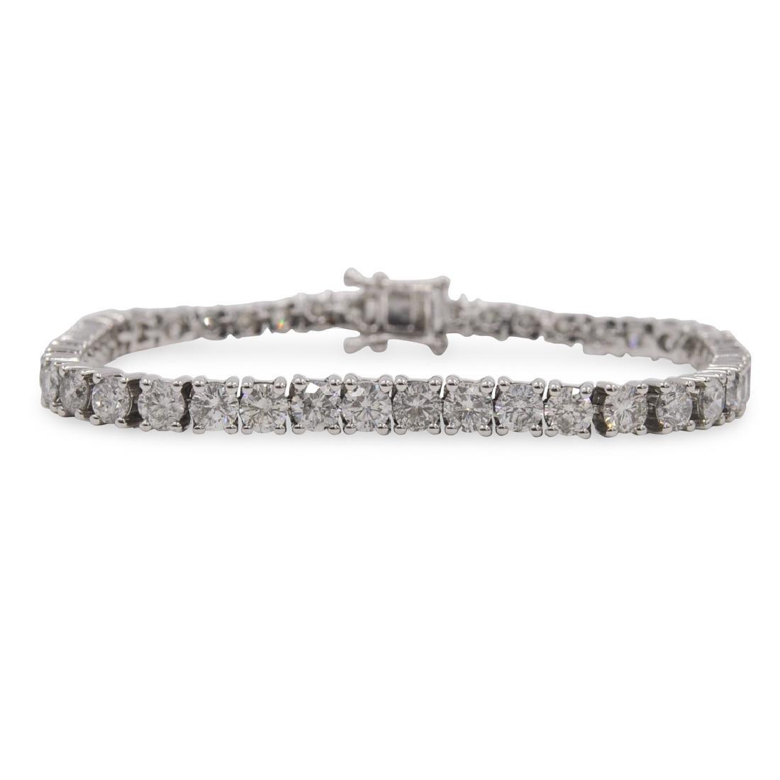 14k Gold and Diamond Tennis Bracelet