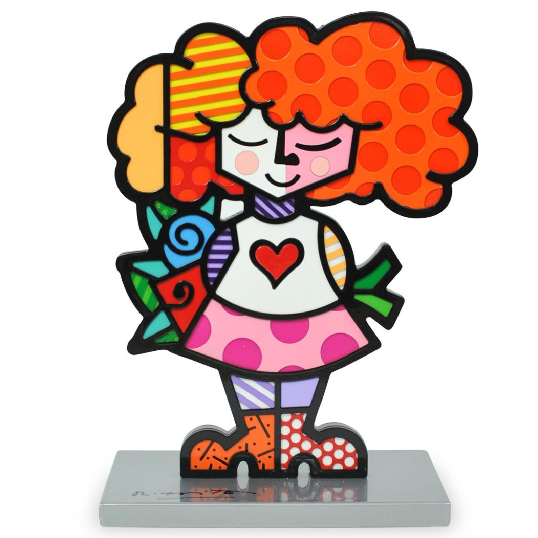 "Romero Britto (Brazilian, b. 1963) ""Good Girl"""