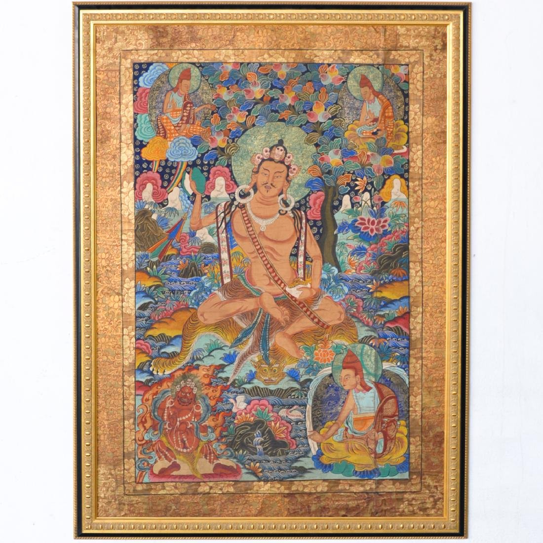 Framed Tibetan Thangka