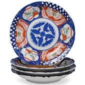 (4 Pc) Japanese Imari Style Plates
