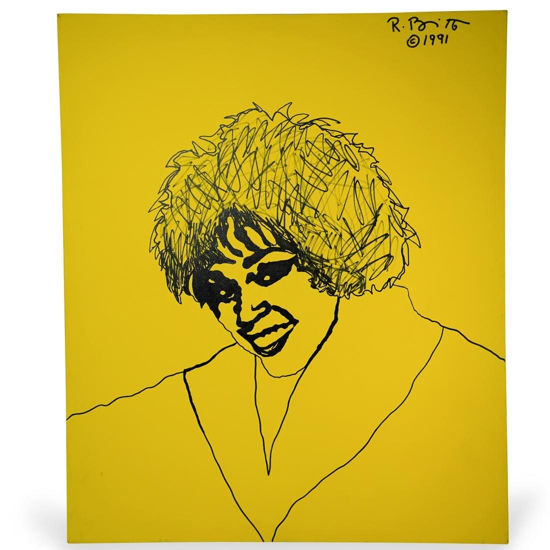 Romero Britto (Brazilian, b. 1963) Acrylic Painting