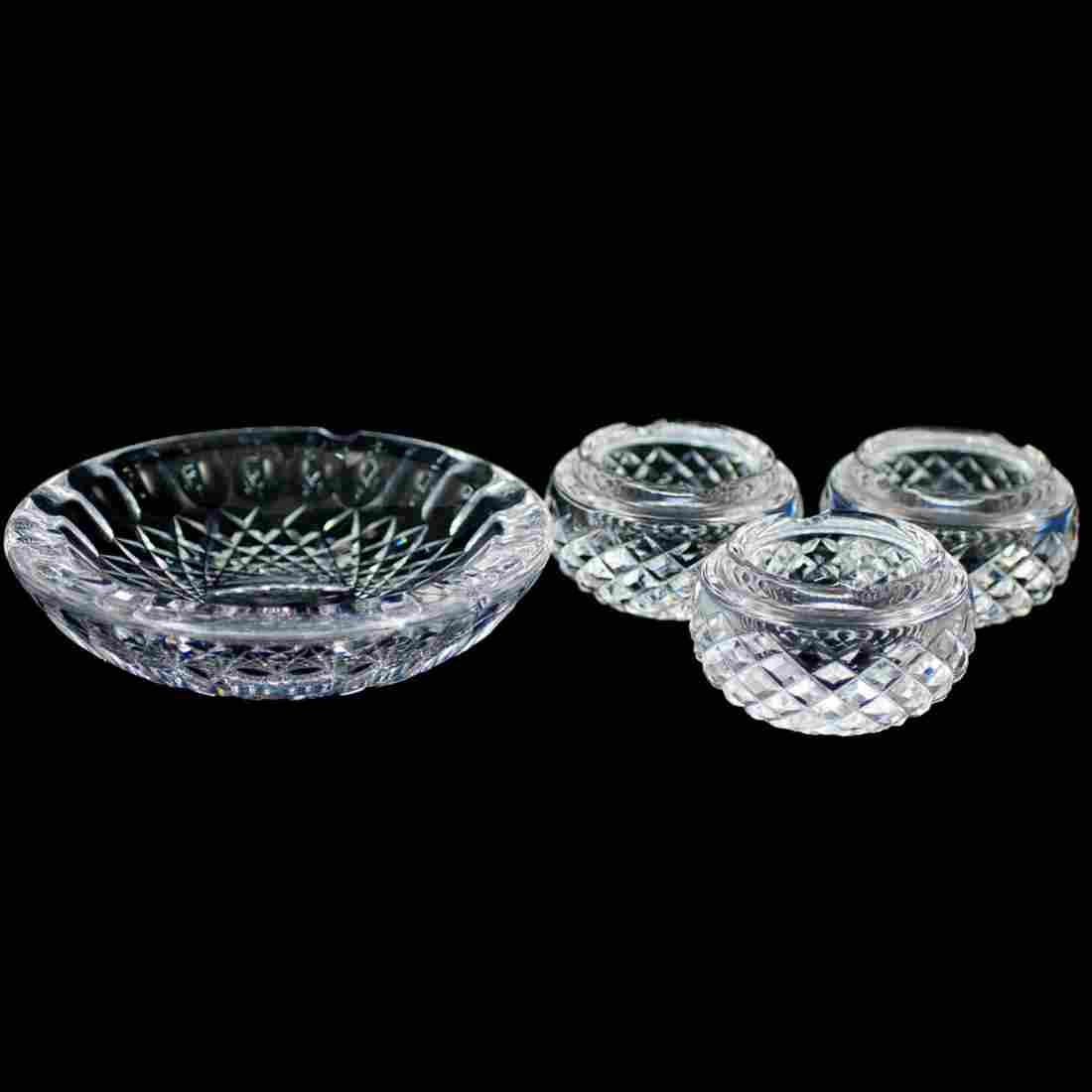 4 Pc) Waterford Crystal Ashtray