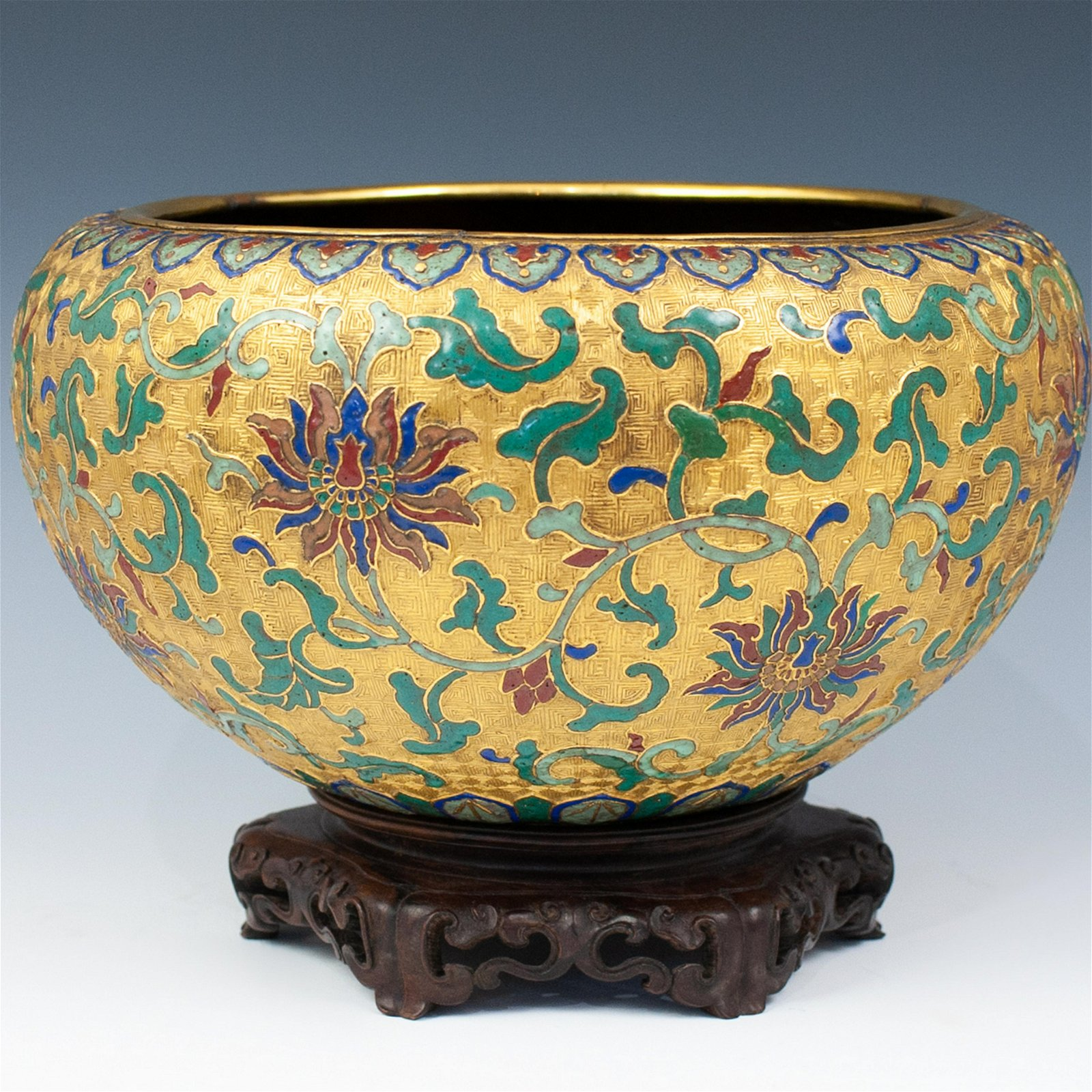 Antique Chinese Cloisonne Bowl
