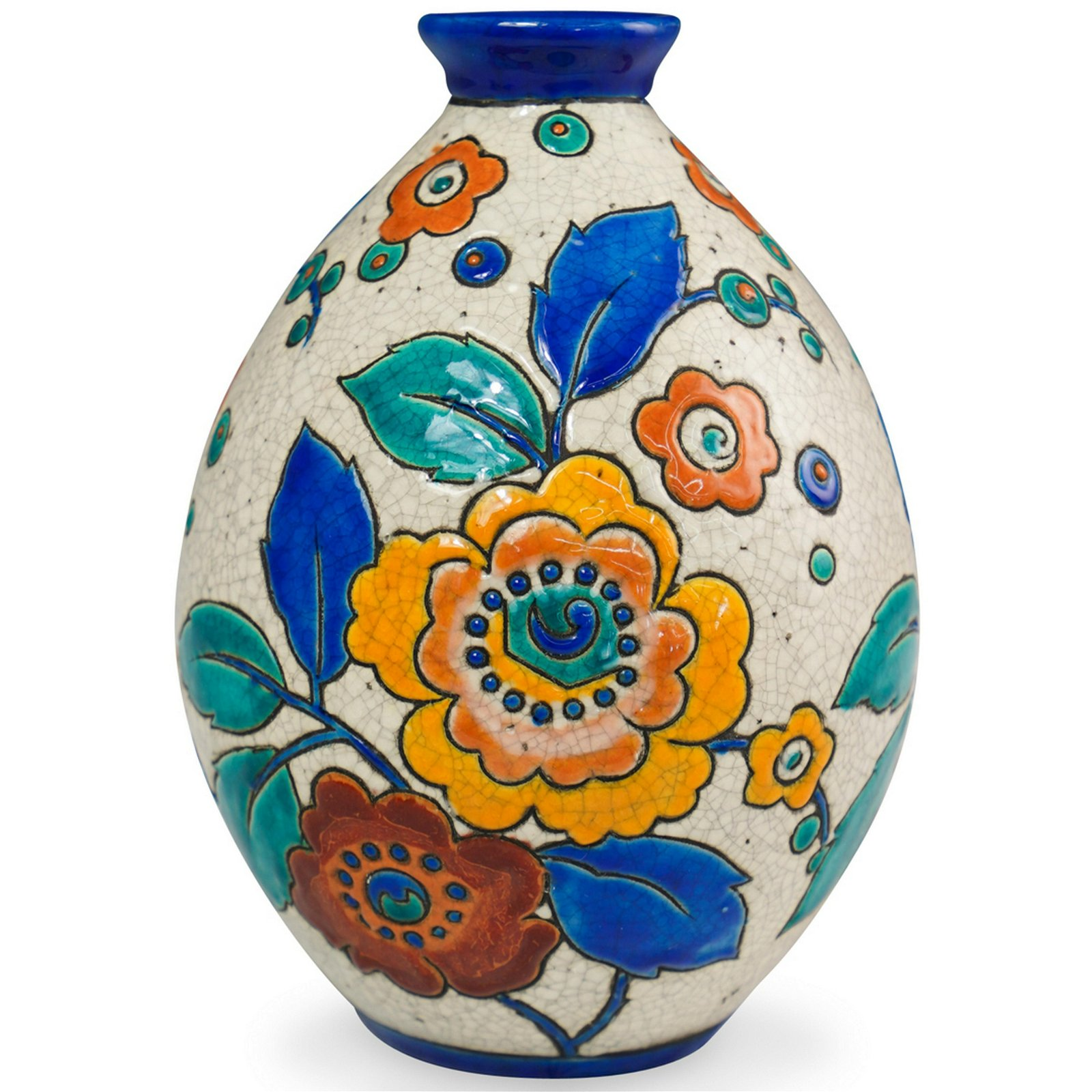 Boch Freres Keramis Ceramic Vase