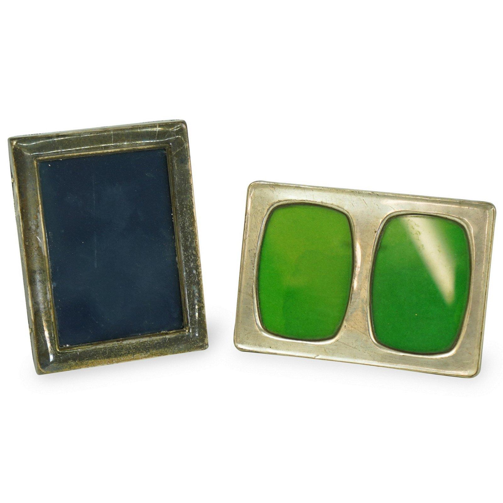 (2 Pc) Vintage Sterling Silver Picture Frames