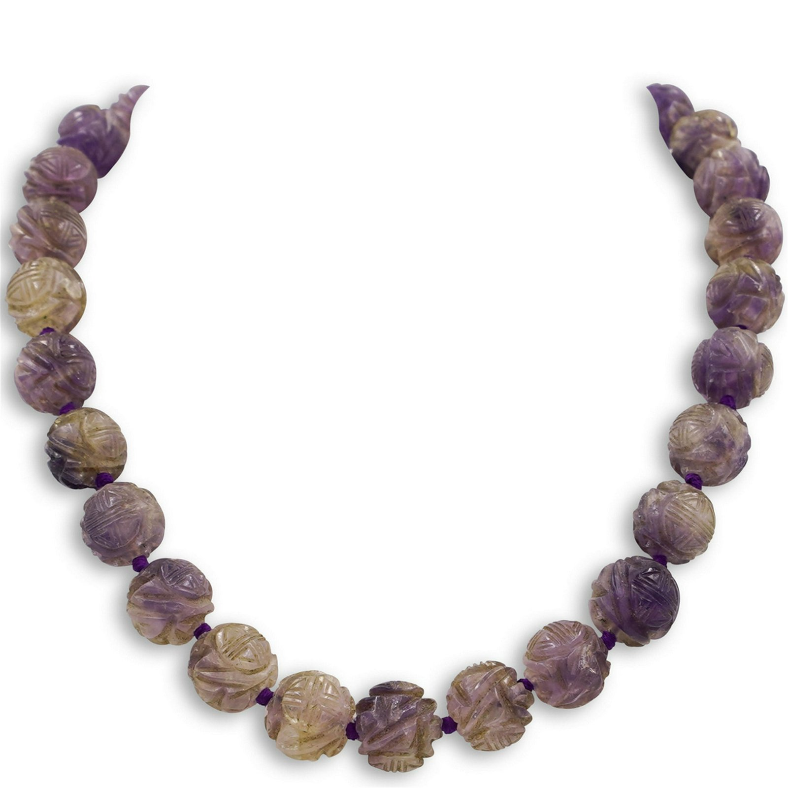 Chinese Amethyst Beaded Necklace