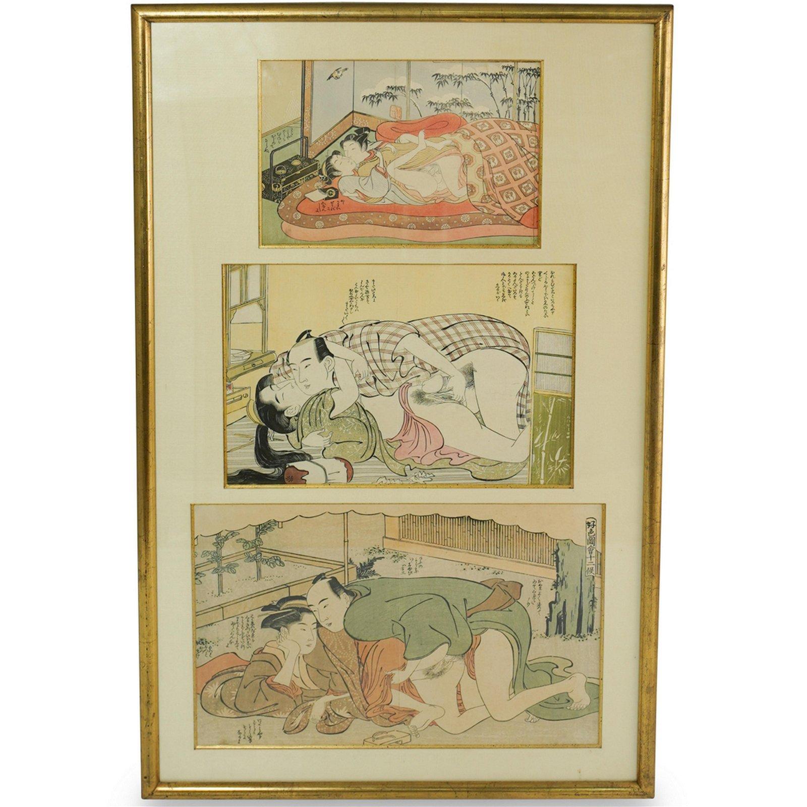 Japanese Ukiyo-E Erotic Woodblock Print