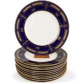 11 Pc Mintons Porcelain Dinner Plates