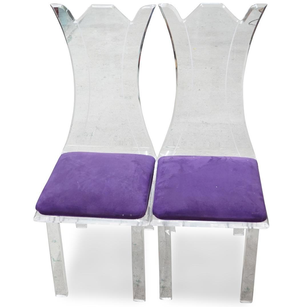 Pair of Muniz Acrylic Chairs
