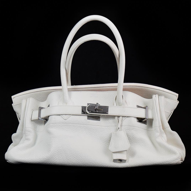 Hermes x Jean Paul Gaultier White Birkin Bag